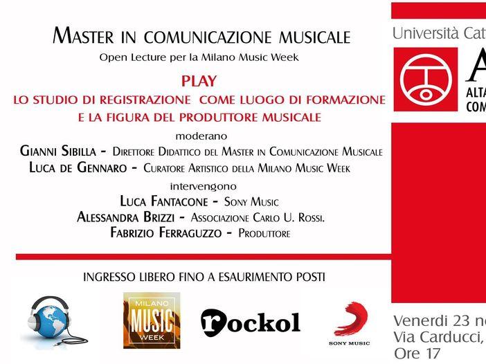 Milano Music Week 2018: gli eventi curati da Rockol e dal Master in Comunicazione Musicale