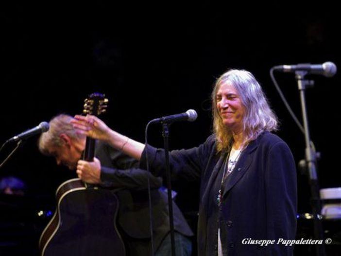 Patti Smith: 'Finalmente in Italia. Qui mi sento a casa mia'