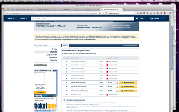 Springsteen in Italia, polemica dei fan per costo ticket