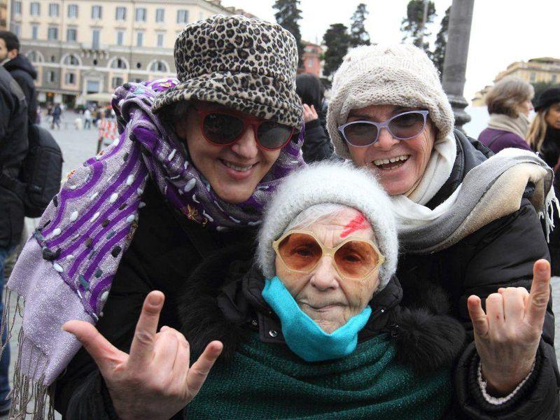 Flash Mob David Bowie - Roma