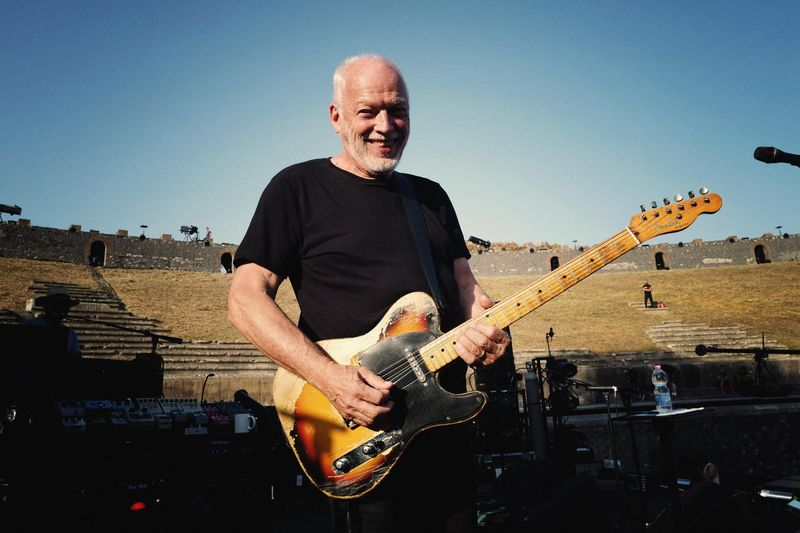 David Gilmour e la moglie Polly Samson all'Hay Festival