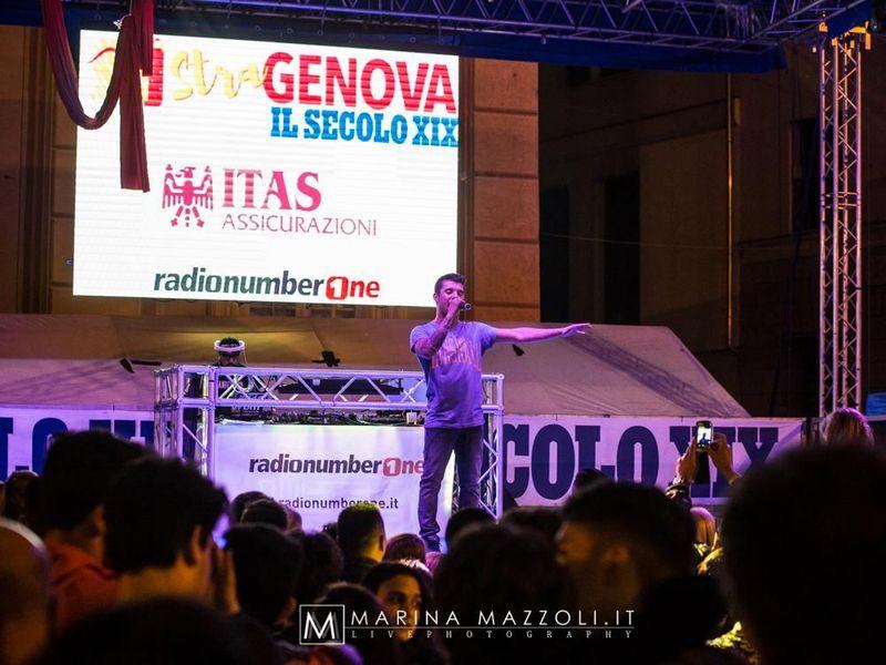 14 maggio 2016 - Piazza De Ferrari - Genova - Moreno in concerto