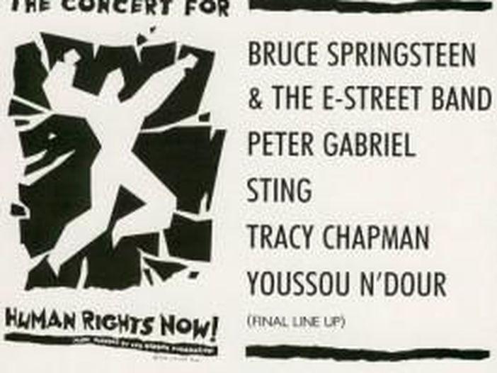 Quella volta che Peter Gabriel, Sting e Bruce Springsteen andarono in tour assieme per Amnesty International