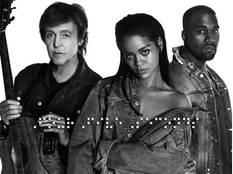 West, McCartney e Rihanna