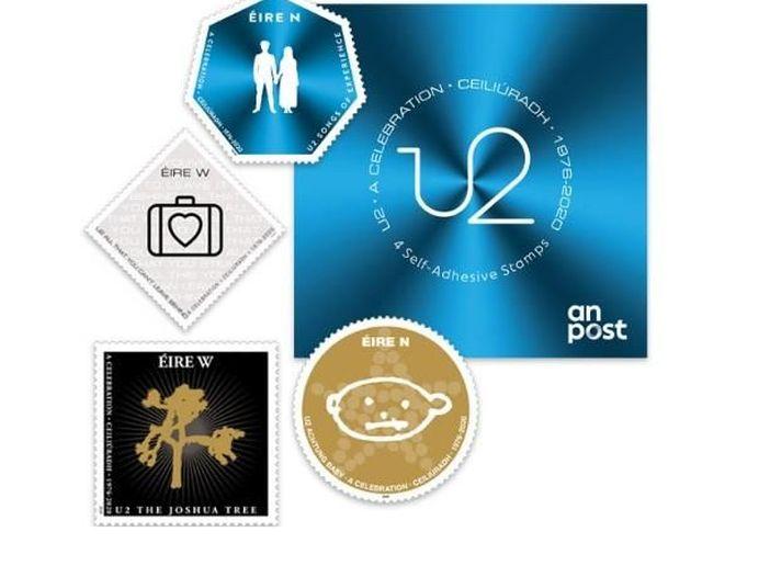 Irlanda, arrivano i francobolli degli U2