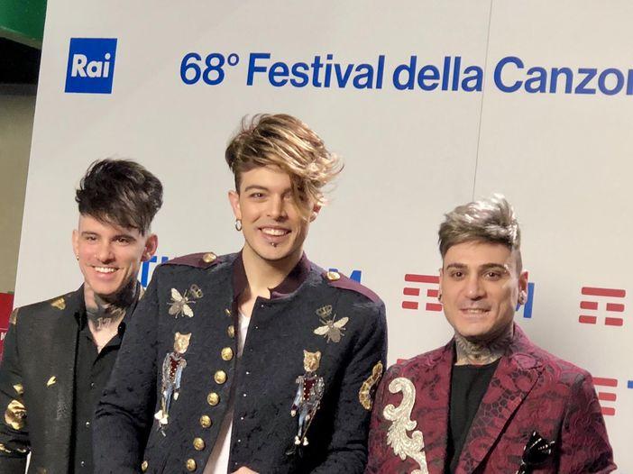 Sanremo 2018, i Kolors in sala stampa