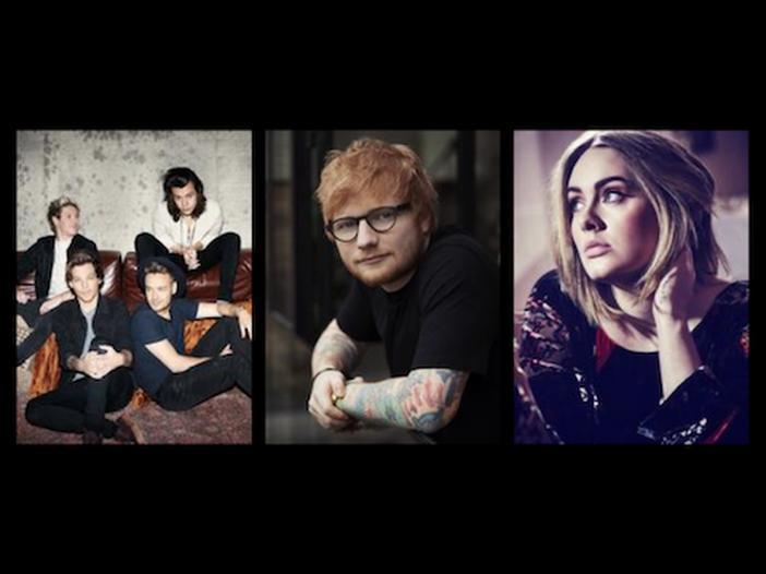 Adele, Ed Sheeran o One Direction? Ecco chi è l'artista del decennio in UK