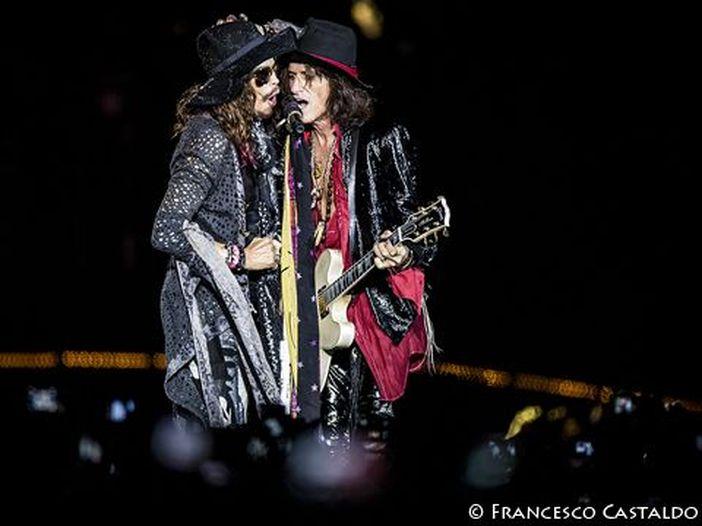 """Aerosmith: unica data in Italia per il tour d'addio """"Aero-Vederci Baby Farewell Tour"""""""
