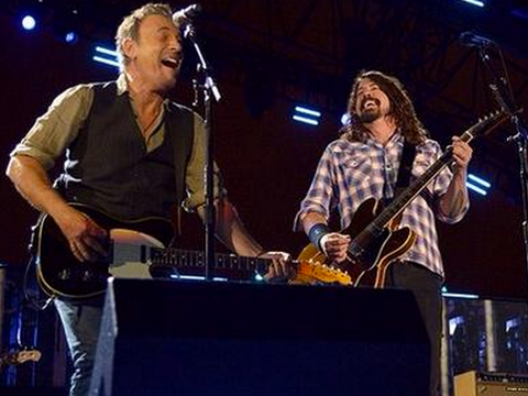 Bruce Springsteen e Dave Grohl