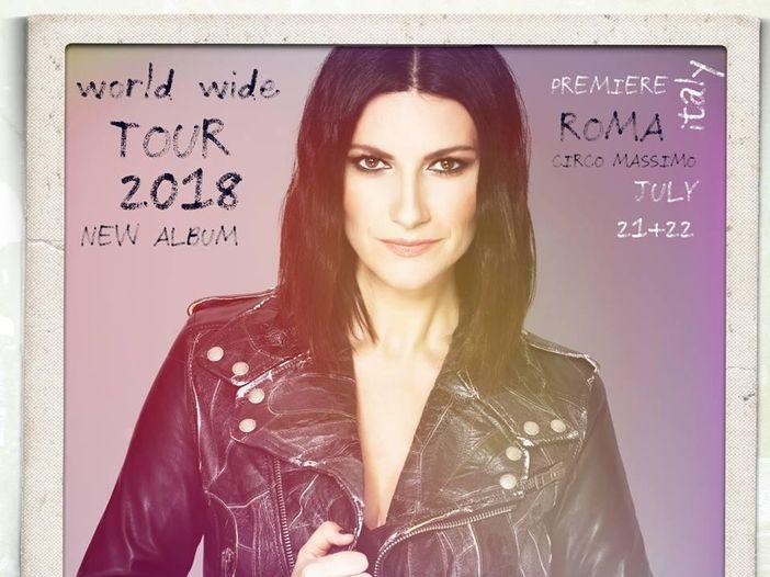 Laura Pausini, nel 2018 nuovo album e tour mondiale aperto da due date a luglio al Circo Massimo di Roma
