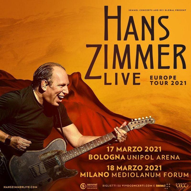 Hans Zimmer, posticipati al 2022 i concerti in Italia e in Europa