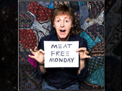 Paul McCartney raps to support vegetarianism and climate change