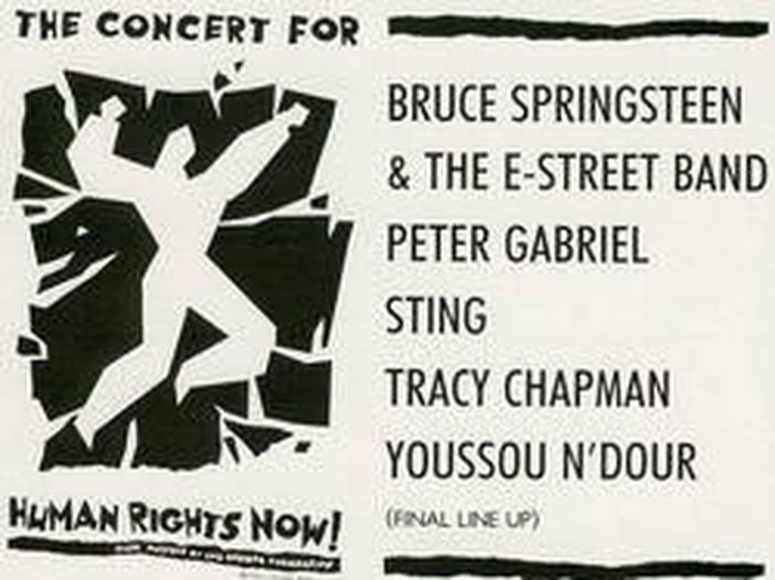 Human Rights Now!: il tour con Bruce Springsteen, Sting e Peter Gabriel