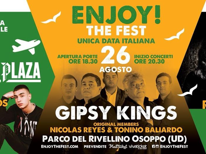 Enjoy! The Fest al Parco del Rivellino di Osoppo dal 24 al 26 agosto, il programma