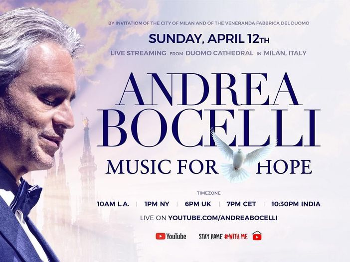 Oggi le nozze a sorpresa di Andrea Bocelli