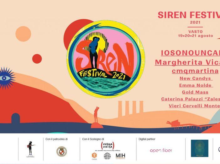 In agosto a Vasto il Siren Festival 2021