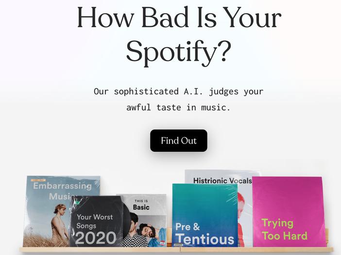 I tuoi gusti musicali sono pessimi (...non ci credi...?)