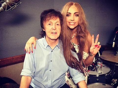 Lady Gaga con Paul McCartney