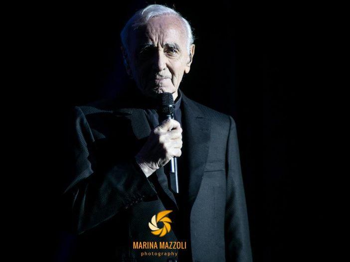 Concerti, Charles Aznavour, il 92enne artista dal vivo all'Arena di Verona