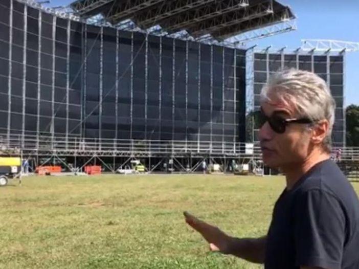 Ligabue, in un video l'anteprima del palco e della scaletta del Liga Rock Park - GUARDA