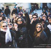 Il flash mob per David Bowie a Milano (17/1/2016)