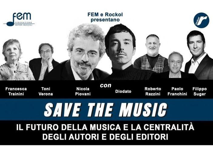 'Save the Music', domani il webinar di Fem e Rockol con Nicola Piovani, Diodato e…