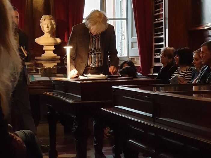 Bob Geldof a Roma per una lettura pubblica di John Keats: le foto