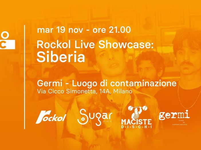 Milano Music Week, Martedì 19: Luca Carboni e i Siberia da Rockol/Germi