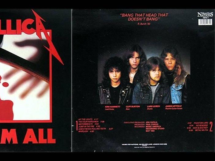 """Metallica: tutte le edizioni di """"Kill 'Em All"""" su vinile"""
