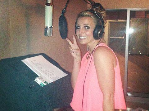 Britney Spears in studio